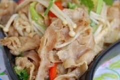 金菇羊肉片