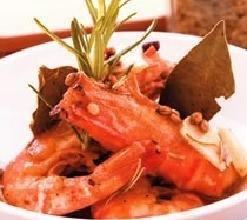 香料醋汁鲜虾