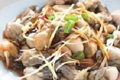 姜丝拌鲜蚵