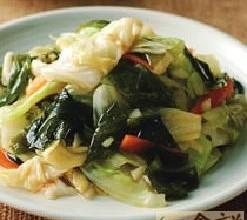 高丽菜拌海带芽