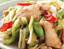 青蒜炒鱼片