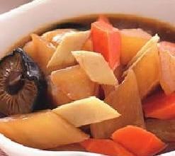 姜片炖萝卜