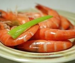 微波葱姜盐水虾