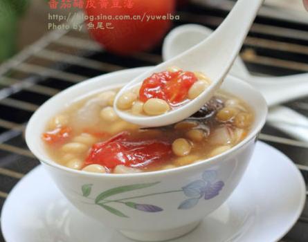 番茄黄豆猪皮汤