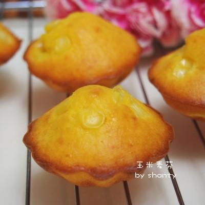 超简单又健康的奶香玉米小蛋糕
