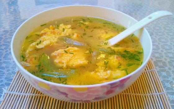 丝瓜蛋汤`