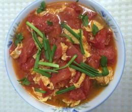 西红柿薄荷叶炒鸡蛋