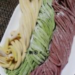 自制彩色蔬菜面条