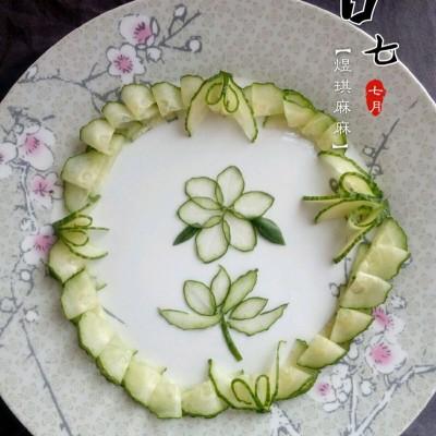 摆盘黄瓜花
