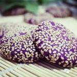 紫薯芝麻小饼