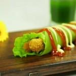 【微体】爱这一抹绿 芹菜鸡肉卷
