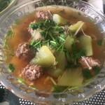 莴笋牛肉丸子汤