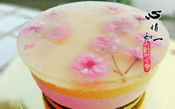 樱花水果慕斯蛋糕#浪漫樱花季#