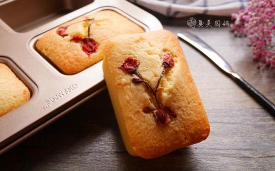 樱花磅蛋糕#浪漫樱花季#
