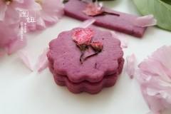 紫薯樱花饼干,有颜更好吃#浪漫樱花季#
