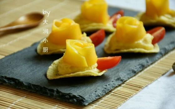#浪漫樱花季#芒果红薯酸奶脆