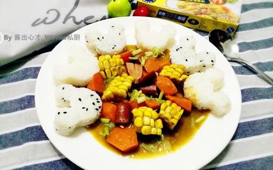 【可爱米奇咖喱饭】简单版#咖喱萌太奇#