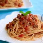 番茄牛肉酱意面 •  自制肉酱