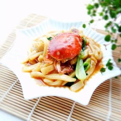 香喷喷的螃蟹年糕#德国mljl爱心菜#