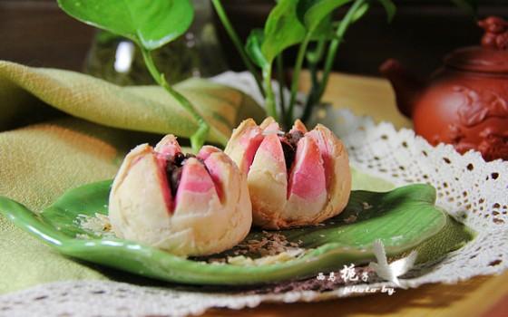 丽水酥#美的烤箱食谱#荷花黄米糕怎么吃图片