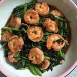虾仁炒苋菜