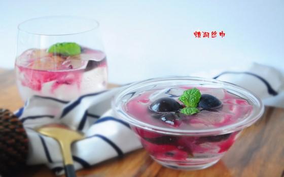 黑加仑冰粉