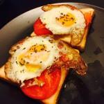 早餐计划之开放式鸡蛋三明治