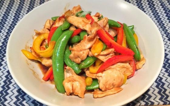雞柳炒雜蔬