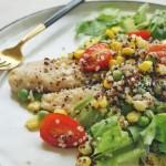巴沙鱼藜麦蔬菜沙拉