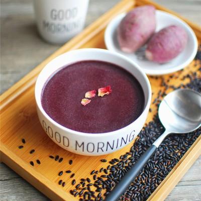 紫薯黑米糊