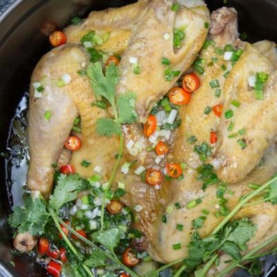 无水葱油鸡|美食台