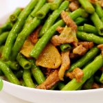 家常小炒、滋味生活--肉丝炒豆角