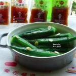 沙拉汁拌秋葵#丘比沙拉汁#