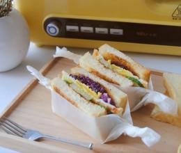 美味早餐三明治#小熊多士炉#