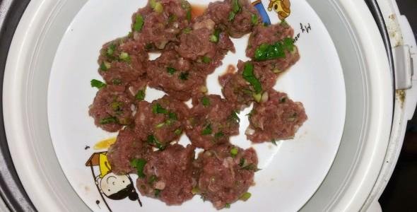 儿童菜-清蒸牛肉球 宝宝菜
