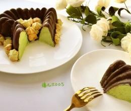 情人节必备一一心形脆皮抺茶蛋糕