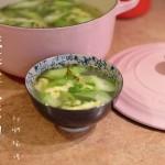咸菜丝瓜蛋汤