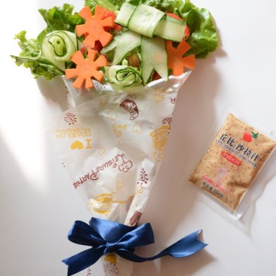 花束沙拉-摆盘