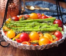 橄榄油的功效与作用--迷迭香橄榄油烤芦笋