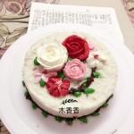 韩式米蛋糕裱花