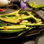 古朴烹饪法烤秋葵#豆果魔兽季联盟#