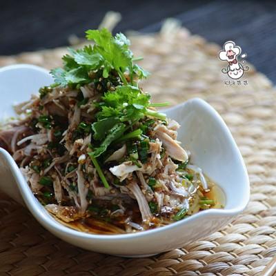 芽菜凉拌手撕鸡 - 亚麻籽油精选菜系