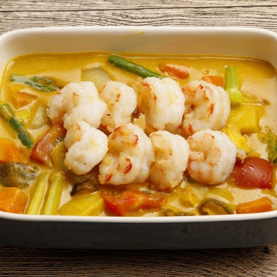 咖喱蔬菜虾