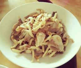 花椒油蘑菇炒肉 #我要上首页下饭家常菜#