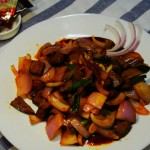 川香牛肉#丘比沙拉汁#