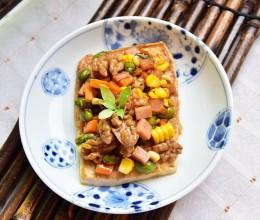 核桃五彩豆腐#健身修复食谱#