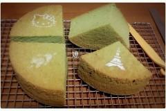 青汁戚风蛋糕(圆模八寸)