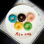 五环甜甜圈蛋糕#专利好油为冠军加油#