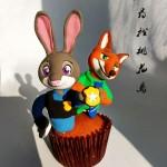 疯狂动物城翻糖杯蛋糕#约会MOF#