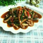 蒜苔炒魷魚